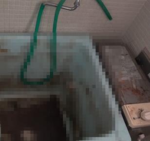 浴槽の特殊清掃2