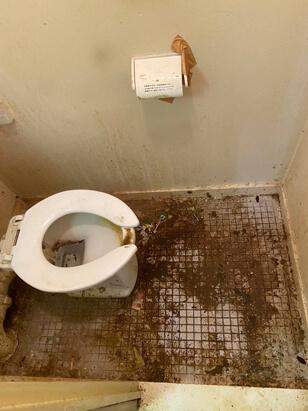 特殊清掃後のトイレ特別清掃1